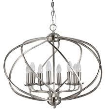 impressive design orb chandeliers come with brown color candle lamps