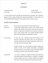 Resume Template For High School Graduate 10 Templates Free Samples