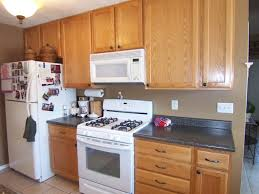 image of latest kitchen colors with oak cabinets