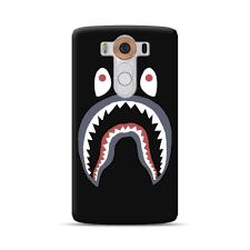 bape shark logo lg v10 case