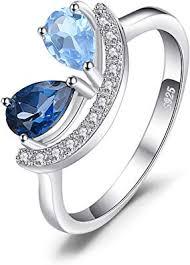 <b>JewelryPalace</b> Celtic Knot <b>Created</b> Pink <b>Blue</b> Spinel <b>Sapphire</b> Ring ...