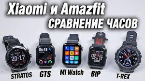 Какие Смарт <b>Часы Xiaomi</b> Лучше? Сравнение <b>часов</b> Amazfit bip ...