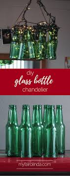 diy glass bottle chandelier pin me