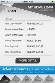calculator house loan mortgage loans malaysia mortgage loan calculator