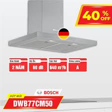 Bosch-Home - MÁY HÚT MÙI BOSCH DWB77CM50 Mã hàng : DWB77CM50 Xuất xứ: Chính  hãng Thương hiệu: BOSCH Tính năng - Thiết kế gắn tường - Mặt inox - Công  suất hút