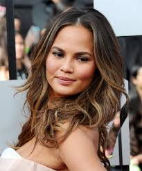 teigen just got fresh extensions and i accidentally cut them. Christine Teigen Long Wavy Brunette Hairstyle