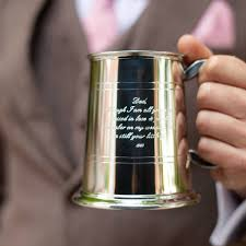 hand made personalised one pint engraved tankard