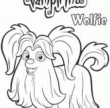 Vampirina Personaggio Wolfie Da Colorare Cartoni Animati Disegni