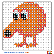 Perler Bead Patterns Delectable Qbert Perler Bead Pattern And Designs Bead Sprites Printable PDF