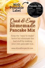 quick easy homemade pancake mix a