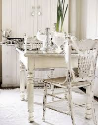 rustic white kitchen table and chairs