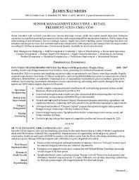 Retail Executive Resume Cute Executive Resume Sample Free Career