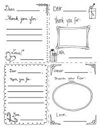 Kids Coloring Thank You Cards Free Printable Thank You Cards From