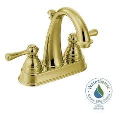 Brass Bathroom Faucet Moen Kingsley 4 In Centerset 2 Handle High Arc Bathroom Faucet In