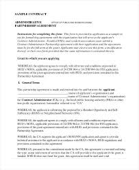 Non Profit Partnership Agreement Templates Contract Template Sample ...