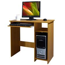 office computer table. WOODEN COMPUTER DESK BASIC HOME OFFICE TABLE WORKSTATION BEECH WOOD PC LAPTOP Office Computer Table