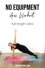 no equipment arm workout for women