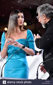 Sanremo, Italy. 05th Feb, 2019. Sanremo Young 2019 in the picture: Belen  Rodriguez and Lucio Presta Credit: Independent Photo Agency/Alamy Live News  Stock Photo - Alamy