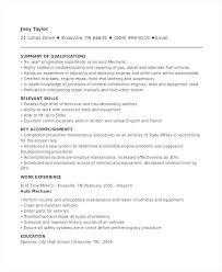 Mechanic Resume Template Auto Mechanic Resume Template Sample For