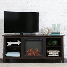 tv stand with fireplace. amazon.com: new 58 inch tv stand with fireplace in espresso finish: kitchen \u0026 dining tv
