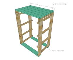 add the rails for the laundry baskets make sure you measure your baskets and adjust to fit