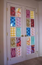 view in gallery french doors fabric covering door window coverings19