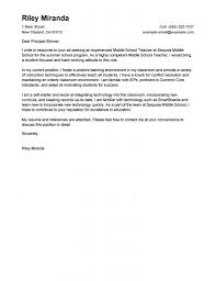 Dazzling Ideas Sample Cover Letter For Teaching Position 9 Leading