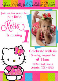 make free birthday invitations online free personalized hello kitty birthday invitations drevio