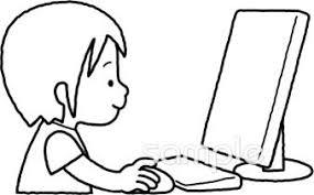 パソコン授業イラストなら小学校幼稚園向け保育園向けのかわいい