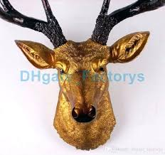 cow head wall decor head wall decor big size gold deer head wall decor stag head