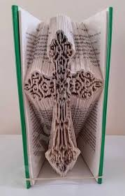fancy cross cut fold book folding pattern