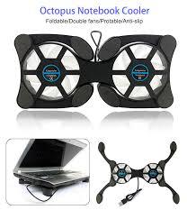 Octopus <b>Notebook Cooler</b> Foldable Cooling <b>Fan USB</b> Quiet ...
