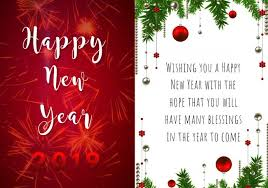 New Year Greeting Card Template Postermywall