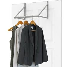 details about door rack for clothes closet rod space saver hangers over organizer storage new