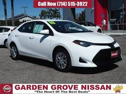used 2018 toyota corolla le sedan