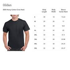 Gildan 5000 Color Chart 2018 Print On Demand Gildan 5000 Unisex Heavy Cotton Crew Neck