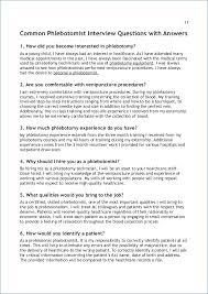 Phlebotomy Description For Resume Resume Layout Com