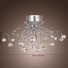 modern crystal pendant lighting. lightinthebox modern crystal chandelier with 11 lights chrom flush mount chandeliers ceiling light fixture for hallway entry bedroom pendant lighting s