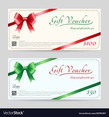 christmas gift card templates christmas gift card or gift voucher template vector image