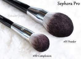 sephora collection pro featherweight brushes review 91 powder vs 90 plexion parison
