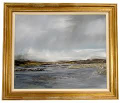 dark seascape painting