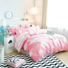 blue patterned duvet set girl clouds pattern bedding super king cover pink white blue patterned duvet covers