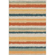 orian rugs henley multi striped bright colors 5 ft x 8 ft indoor area