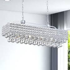 silver 5 light rectangular crystal chandelier home depot