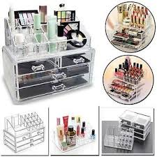 image is loading 4 drawer clear acrylic cosmetic organizer makeup case