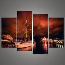 new modular pictures 4 pieces of wall art sydney opera house modern printing fashion art mural on wall art sydney with new modular pictures 4 pieces of wall art sydney opera house modern