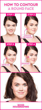 8 bine blush with contouring to slim a round face