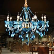 prodigous blue crystal chandeliers o2768372 photo 1 of 7 vintage blue crystal chandelier led colored cafe bar light sconces dining room wedding light