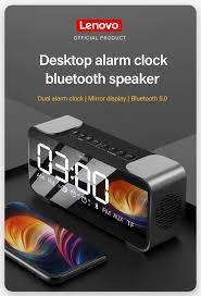 <b>Lenovo L022 Bluetooth</b> Speaker LED Alarm Clock - Rajshahi TecH