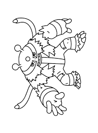 Small Picture Pokemon Coloring Pages Electivire For shimosokubiz